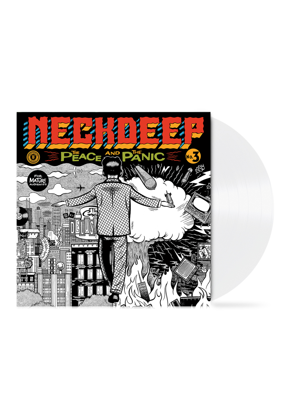 Neck Deep The Peace And The Panic White Colored Lp